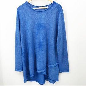 Soft Surroundings Tunic Vibrant Blue Dye Variation